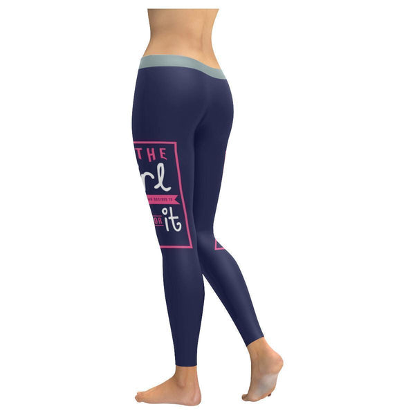 Be The Girl Who Decided To Go For It Inspirational Motivational Womens Leggings-JoyHip.Com