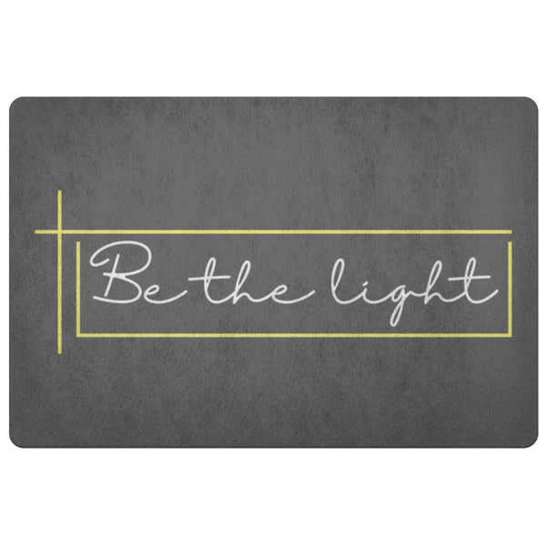 Be The Light 18X26 Door Mat Unique Christian Gifts Ideas Religious Spiritual-Doormat-Grey-JoyHip.Com