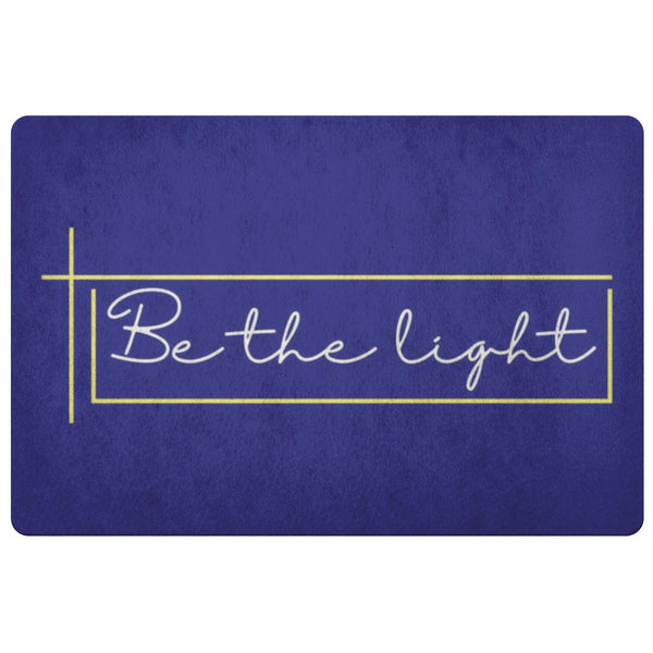Be The Light 18X26 Door Mat Unique Christian Gifts Ideas Religious Spiritual-Doormat-Navy-JoyHip.Com