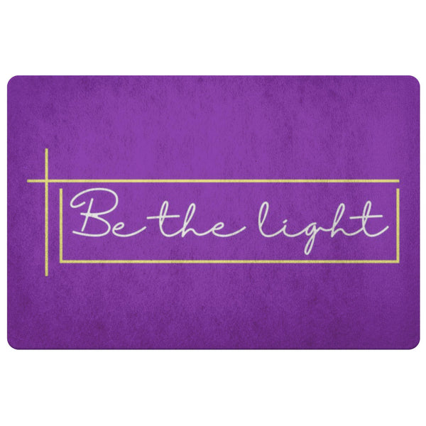 Be The Light 18X26 Door Mat Unique Christian Gifts Ideas Religious Spiritual-Doormat-Purple-JoyHip.Com