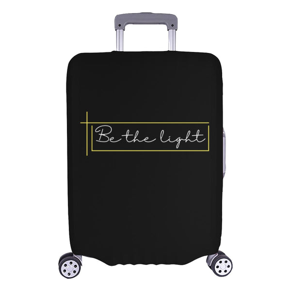 Be The Light Christian Travel Luggage Cover Suitcase Protector Fits 18-28 Inch-L-Black-JoyHip.Com