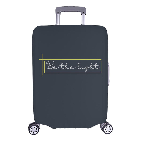 Be The Light Christian Travel Luggage Cover Suitcase Protector Fits 18-28 Inch-L-Grey-JoyHip.Com