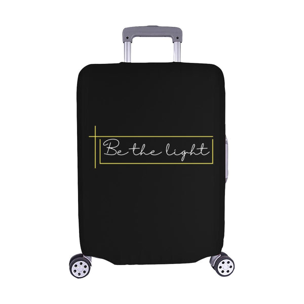 Be The Light Christian Travel Luggage Cover Suitcase Protector Fits 18-28 Inch-M-Black-JoyHip.Com