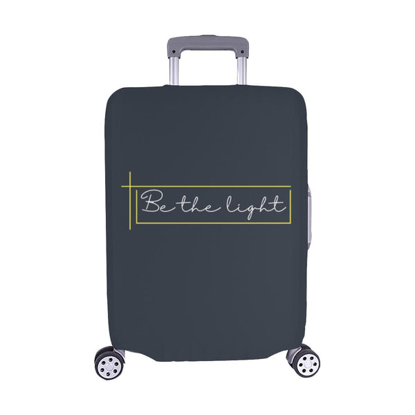 Be The Light Christian Travel Luggage Cover Suitcase Protector Fits 18-28 Inch-M-Grey-JoyHip.Com