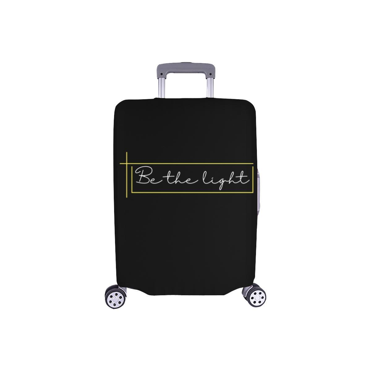 Be The Light Christian Travel Luggage Cover Suitcase Protector Fits 18-28 Inch-S-Black-JoyHip.Com