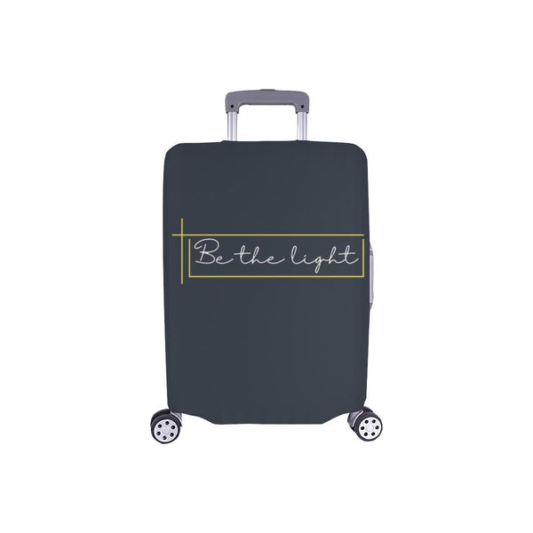 Be The Light Christian Travel Luggage Cover Suitcase Protector Fits 18-28 Inch-S-Grey-JoyHip.Com