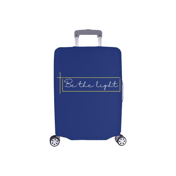 Be The Light Christian Travel Luggage Cover Suitcase Protector Fits 18-28 Inch-S-Navy-JoyHip.Com