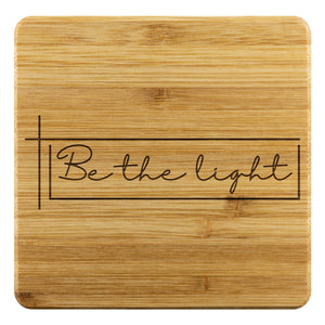Be The Light Cute Funny Drink Coasters Set Fun Christian Gifts Ideas Religious-Coasters-Bamboo Coaster - 4pc-JoyHip.Com