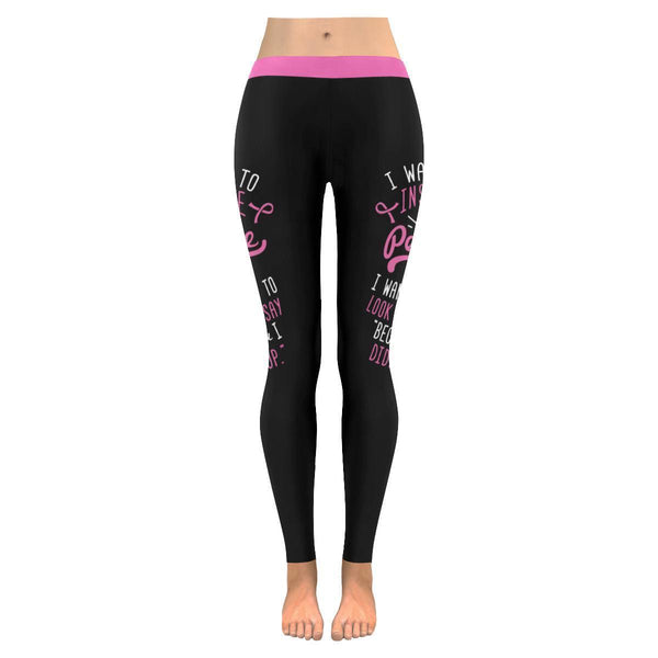 Because Friends Dont Let Friends Fight Cancer Alone Breast Cancer Pink Leggings-JoyHip.Com