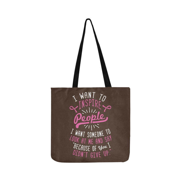 Because You Didnt Give Up Breast Cancer Shopping Grocery Reusable Produce Bags-One Size-Brown-JoyHip.Com