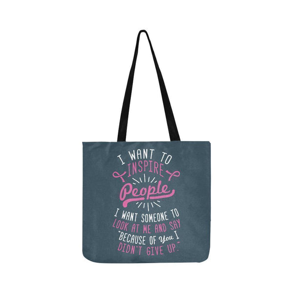 Because You Didnt Give Up Breast Cancer Shopping Grocery Reusable Produce Bags-One Size-Grey-JoyHip.Com