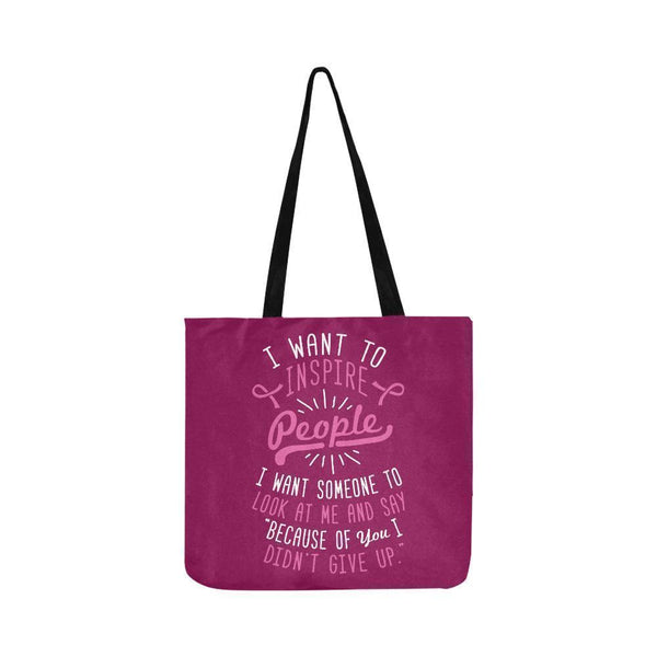 Because You Didnt Give Up Breast Cancer Shopping Grocery Reusable Produce Bags-One Size-Maroon-JoyHip.Com
