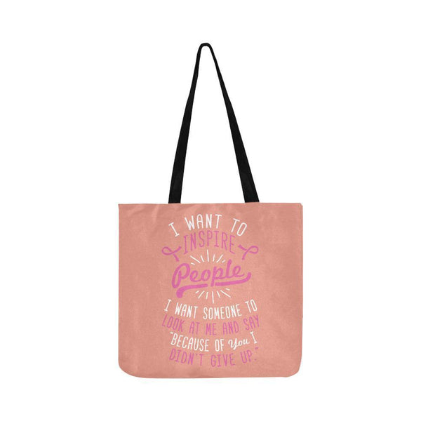 Because You Didnt Give Up Breast Cancer Shopping Grocery Reusable Produce Bags-One Size-Peach-JoyHip.Com