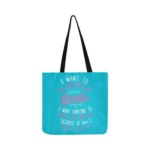 Because You Didnt Give Up Breast Cancer Shopping Grocery Reusable Produce Bags-One Size-Turquoise-JoyHip.Com