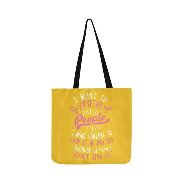 Because You Didnt Give Up Breast Cancer Shopping Grocery Reusable Produce Bags-One Size-Yellow-JoyHip.Com