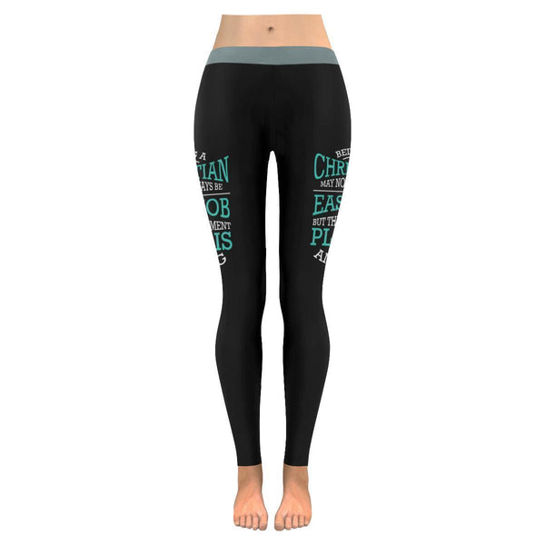 Being A Christian Not An Easy But Retirement Plan Is Amazing Christian Leggings-JoyHip.Com