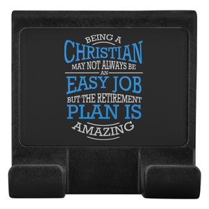 Being Christian Not Easy Retirement Amazing Christian Cell Phone Monitor Holder-Moniclip-Moniclip-JoyHip.Com