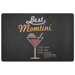 Best Momtini 1oz Class 2oz Sass 18X26 Door Mat 1st Mothers Day Gifts Ideas Funny-Doormat-Black-JoyHip.Com