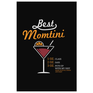 Best Momtini Shake With Ice Strain & Enjoy Funny Cute Mother Day Canvas Wall Art-Canvas Wall Art 2-8 x 12-JoyHip.Com