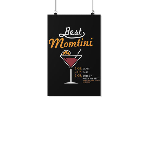 Best Momtini Shake With Ice Strain & Enjoy Funny Mother Day Poster Wall Art Home-Posters 2-11x17-JoyHip.Com