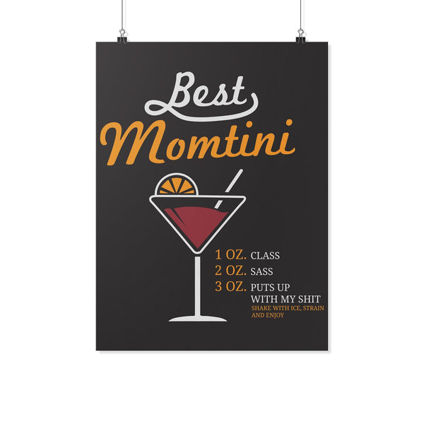 Best Momtini Shake With Ice Strain & Enjoy Funny Mother Day Poster Wall Art Home-Posters 2-18x24-JoyHip.Com