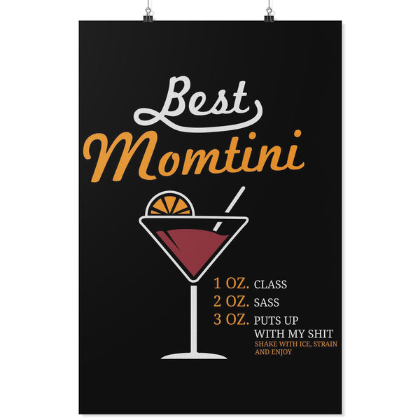 Best Momtini Shake With Ice Strain & Enjoy Funny Mother Day Poster Wall Art Home-Posters 2-24x36-JoyHip.Com