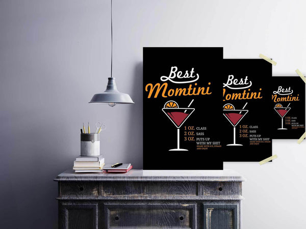 Best Momtini Shake With Ice Strain & Enjoy Funny Mother Day Poster Wall Art Home-Posters 2-JoyHip.Com