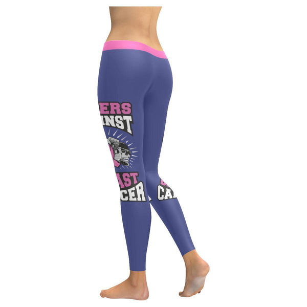 Bikers Against Breast Cancer Awareness Pink Ribbon UPF40+ Womens Leggings-JoyHip.Com