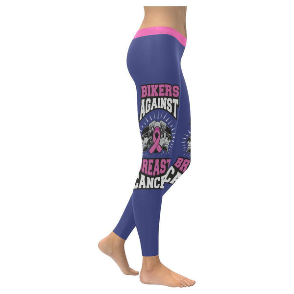 Bikers Against Breast Cancer Awareness Pink Ribbon UPF40+ Womens Leggings-XXS-Orchid-JoyHip.Com