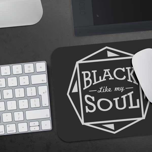 Black Like My Soul Mouse Pad Unique Snarky Funny Humor Gift Idea Sarcasm Cynical-Mousepads-JoyHip.Com