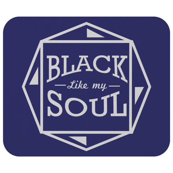 Black Like My Soul Mouse Pad Unique Snarky Funny Humor Gift Idea Sarcasm Cynical-Mousepads-Navy-JoyHip.Com