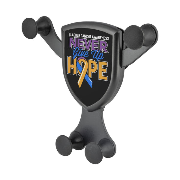 Bladder Cancer Awareness Never Give Up Hope Qi Wireless Car Charger Mount Gift-Gravitis Car Charger-Gravitis - Wireless Car Charger-JoyHip.Com