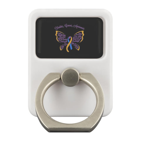 Bladder Cancer Butterfly Blue Yellow Purple Phone Ring Holder Kickstand Gifts-Ringr - Multi-Tool Accessory-Ringr - Multi-Tool Accessory-JoyHip.Com