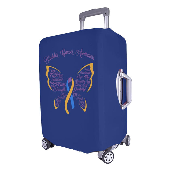 "Bladder Cancer Butterfly Travel Luggage Cover Suitcase Protector 18""-28"" Baggage-JoyHip.Com"