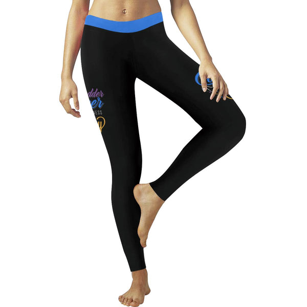 Bladder Cancer Month May Blue Yellow Purple Ribbon Gift Leggings For Women-JoyHip.Com