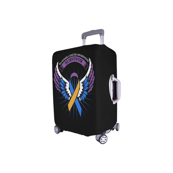 Bladder Cancer Survivor Angel Wings Travel Luggage Cover Suitcase Protector-JoyHip.Com