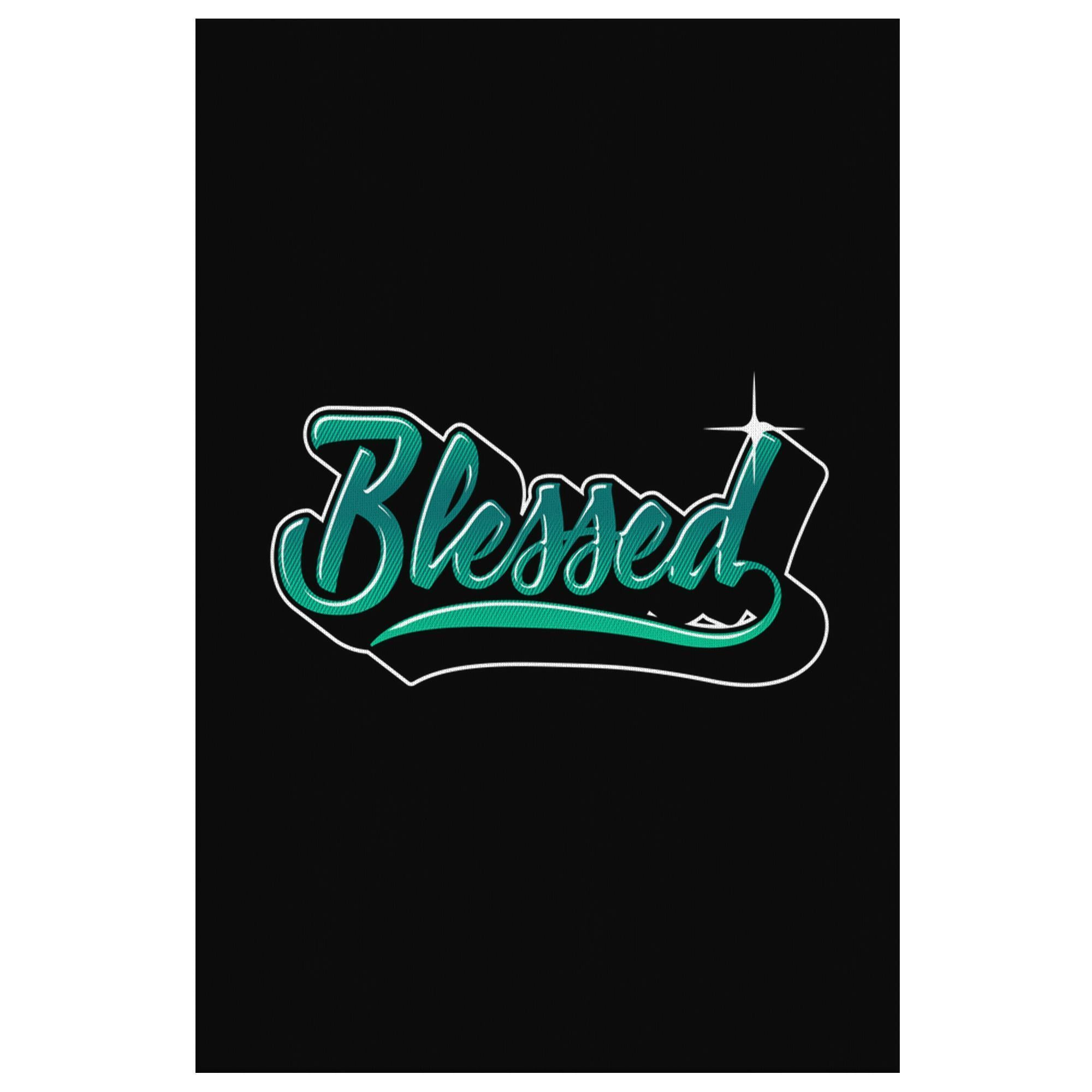 Blessed Christian Canvas Wall Art Room Decor Gift Religious Spiritual Presents-Canvas Wall Art 2-8 x 12-JoyHip.Com