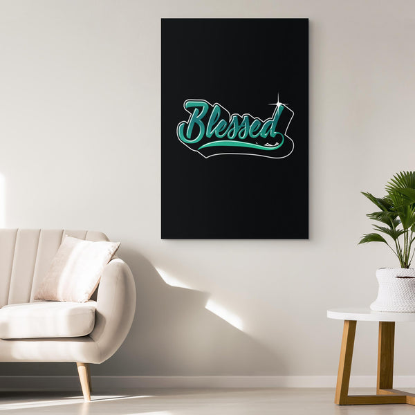 Blessed Christian Canvas Wall Art Room Decor Gift Religious Spiritual Presents-Canvas Wall Art 2-JoyHip.Com