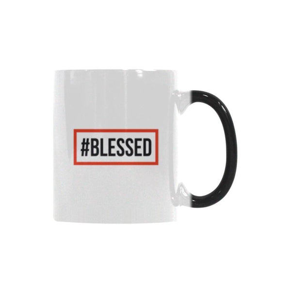 #Blessed Christian Color Changing/Morphing 11oz Coffee Mug-Morphing Mug-One Size-JoyHip.Com