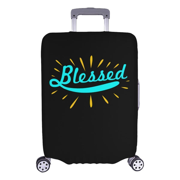 Blessed Christian Travel Luggage Cover Suitcase Protector Fit 18-28 Inch Baggage-L-Black-JoyHip.Com