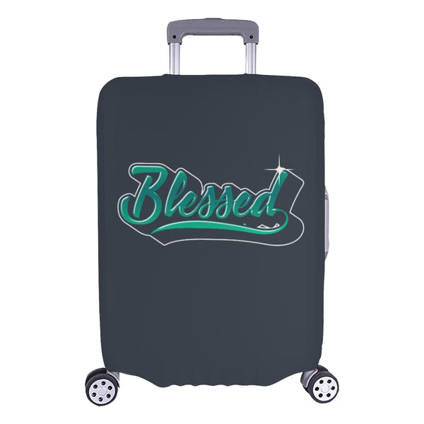 Blessed Christian Travel Luggage Cover Suitcase Protector Fit 18-28 Inch Baggage-L-Grey-JoyHip.Com