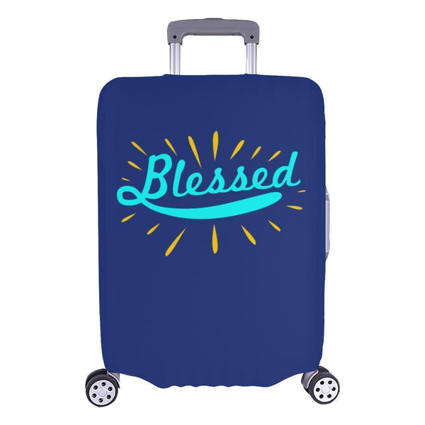 Blessed Christian Travel Luggage Cover Suitcase Protector Fit 18-28 Inch Baggage-L-Navy-JoyHip.Com