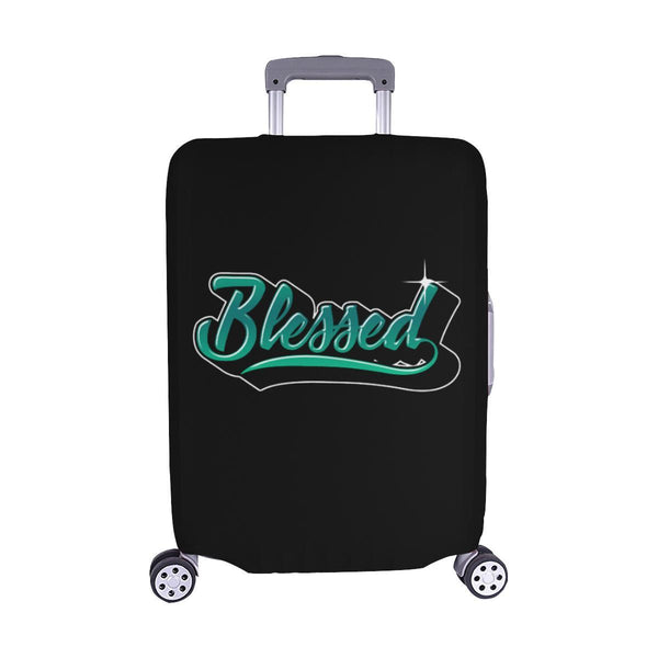 Blessed Christian Travel Luggage Cover Suitcase Protector Fit 18-28 Inch Baggage-M-Black-JoyHip.Com