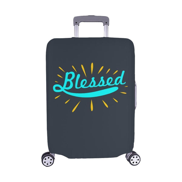 Blessed Christian Travel Luggage Cover Suitcase Protector Fit 18-28 Inch Baggage-M-Grey-JoyHip.Com