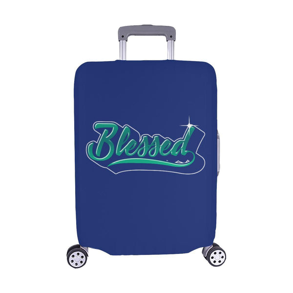 Blessed Christian Travel Luggage Cover Suitcase Protector Fit 18-28 Inch Baggage-M-Navy-JoyHip.Com