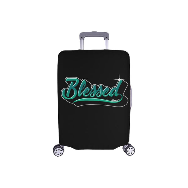 Blessed Christian Travel Luggage Cover Suitcase Protector Fit 18-28 Inch Baggage-S-Black-JoyHip.Com