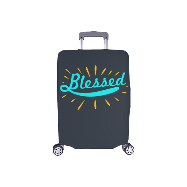 Blessed Christian Travel Luggage Cover Suitcase Protector Fit 18-28 Inch Baggage-S-Grey-JoyHip.Com