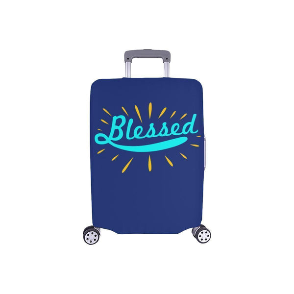Blessed Christian Travel Luggage Cover Suitcase Protector Fit 18-28 Inch Baggage-S-Navy-JoyHip.Com