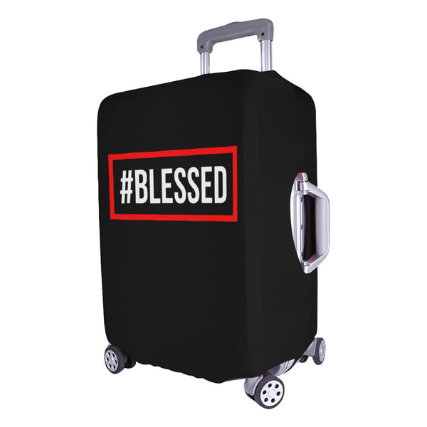 "#Blessed Christian Travel Luggage Cover Suitcase Protector Fits 18""-28"" Baggage-JoyHip.Com"