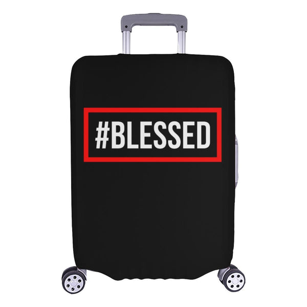 "#Blessed Christian Travel Luggage Cover Suitcase Protector Fits 18""-28"" Baggage-L-Black-JoyHip.Com"